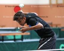 Foto: Michael Stemmer | © Michael Stemmer Tischtennis, Kreismeisterschaften Datum: 5.11.2017 Daniel Schwarzer (Moorreger SV)