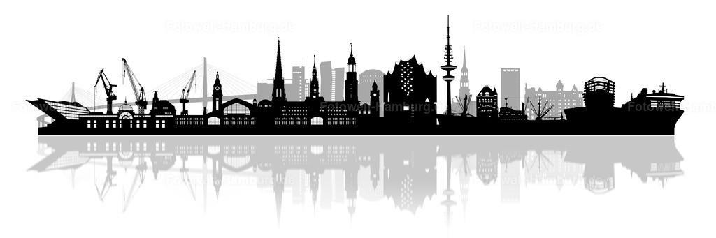 hamburg skyline bild auf leinwand glasbild poster elbphilharmonie und hafencity