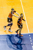 2016_093_CLM_BRVolleys-Belgorod | Jubel bei Paul Lotman (BRVolleys #9) und Felix Fischer (BRVolleys #6)