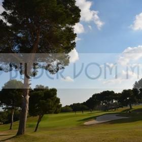 Bilder Golf | Bilder golf mit Bunker, Bäumen und Wolken