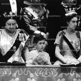 England, Grossbritannien, Kšnigin-Mutter Elizabeth, Prinz Charles, FŸrst von Wales, Prinzessin Margaret von Gro§britannien Queen - Mum, Retro