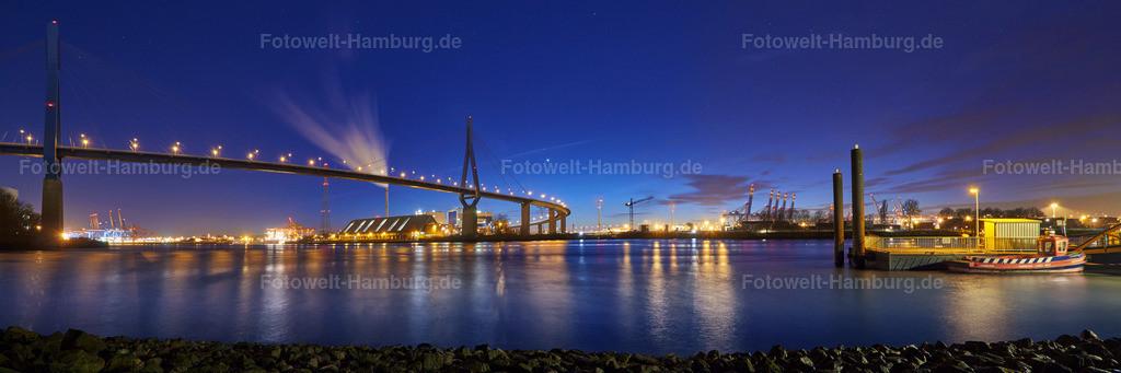 11457239 - Blaue Stunde an der Köhlbrandbrücke