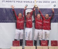 Snow Polo World Championchip St. Moritz, Winner Team Cartier, 2014 | Jonathan Munro Ford; Max Charlton, Chris Hyde, etc.