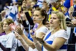 2016_041_Spiel1OlympiaQualiBulgarien-Finnland | finnische Fans jubeln