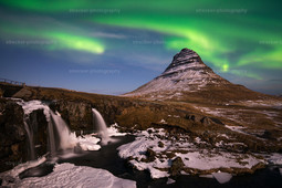 Kirkjufell Polarlicht | Kirkjufell Polarlicht Island