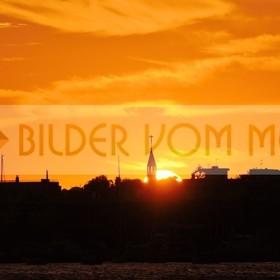 Bilder Sonnenuntergang am Meer | Sonnenuntergang am Mar Menor in Spanien