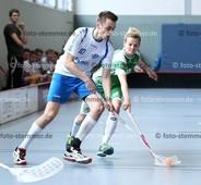 Foto: Michael Stemmer | © Michael Stemmer Floorball 2. Bundesliga Playoff Halbfinale Datum: 1.4.2017 Blau-Weiß 96 – Saalebieber Halle  Benedikt Fiedrich   (BW 96)