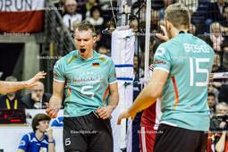 2016_037_OlympiaQualiDeutschland-Polen | Jubel bei KALIBERDA Denys (#6 Deutschland) und BROSHOG Tim (#15 Deutschland)