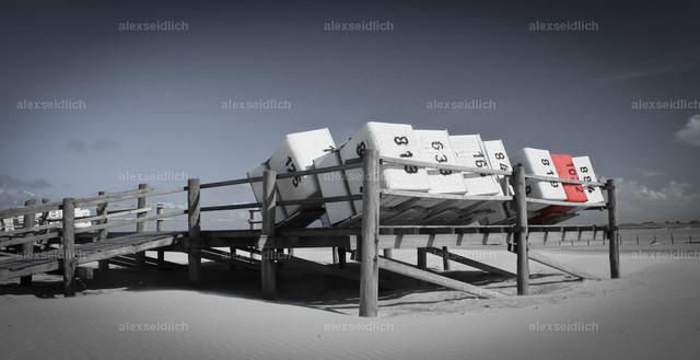 Strandkörbe in St. Peter-Ording sw