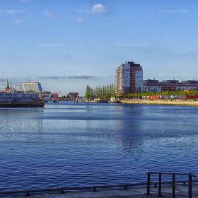Blick in den Hafen Kiel