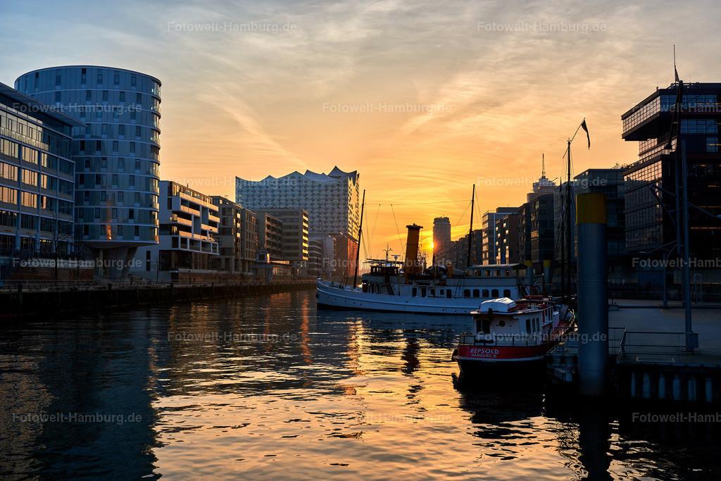 10190407 - Sonnenuntergang im Sandtorhafen II