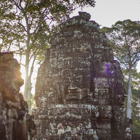 morning at bayon temple