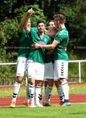 Foto: Michael Stemmer | © Michael Stemmer Fußball, Oberliga- Hamburg, Saison 2016- 2017 Datum: 14.8.2016 Spiel: TSV Wedel gegen Barmbek- Uhlenhorst (BU) Jubel nach dem 1:0 Hendrik Ebbecke (TSV Wedel)