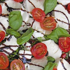 Tomaten mit Mozzarella | Tomaten, Mozzarella, Basilikum, Balsamico