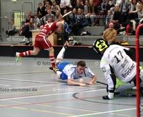 Foto: Michael Stemmer | © Michael Stemmer Floorball, Pokal, 4. Runde , Männer Datum: 10.12.2017 Blau-Weiß 96 Schenefeld – UHC Sparkasse Weißenfels  Marvin Kuhfeld   (BW 96)