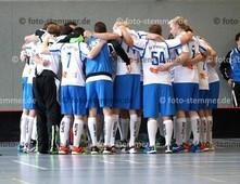 Foto: Michael Stemmer | © Michael Stemmer Datum: 23.9.2017 Floorball (BW 96 gegen Schriersheim) Beschwörung vor dem Spiel- Mannschaft   (BW 96)