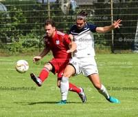 Foto: Michael Stemmer | © Michael Stemmer Fußball Bezirksliga West- Saison 2017- 2018 Datum: 30.7.2017 Spiel: SSV Rantzau- (rot) gegen SV Nienstedten  Tobias Fred Thiede   (SSV Rantzau)