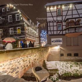 Mittelbruecke_2017_Bensheim_01   Bensheim, Winter, Schnee, Mittelbruecke, ,, Bild: Thomas Neu