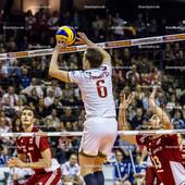 2016_168_OlympiaQuali_Halbfinale_Frankreich-Polen | Zuspiel TONIUTTI Benjamin (c) (#6 Frankreich)