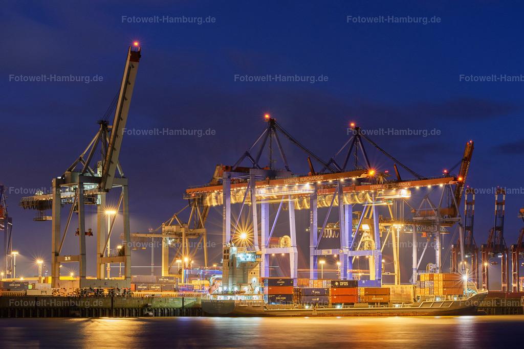 12007705 - Terminal Burchardkai bei Nacht | Blick auf den Containerteminal Burchardkai im Hamburger Hafen