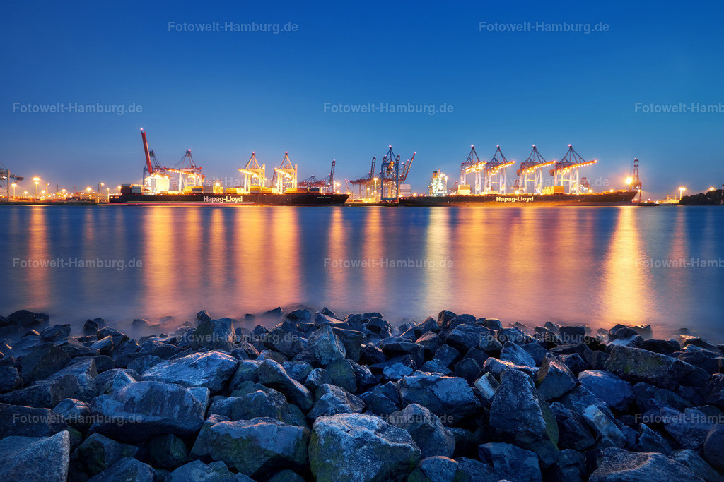 11561846 - Containerterminal bei Nacht