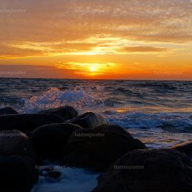 Küste Fehmarn Sonnenaufgang