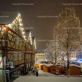 Weihnachtsmarkt_2017_08   Bensheim, Weihnachtsmarkt, Schnee, Adventstimmung, Marktplatz, Winter, ,, Bild: Thomas Neu