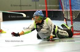 Foto: Michael Stemmer | © Michael Stemmer Floorball Datum: 7.10.2017 BW 96 gegen MFBC Leipzig Torwart Bennet Druminski   (BW 96)