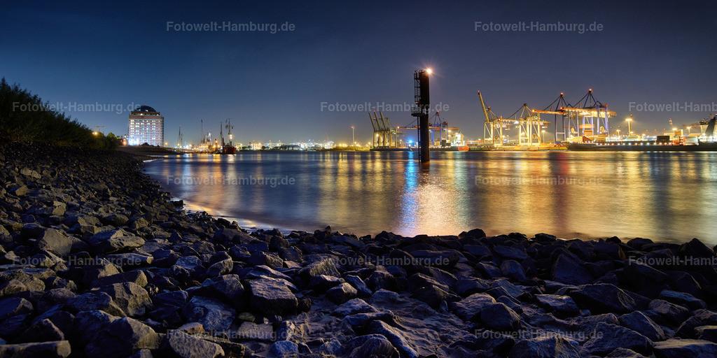12013519 - Elbstrand Övelgönne bei Nacht   Nächtliche Stimmung am Elbstrand in Hamburg-Övelgönne