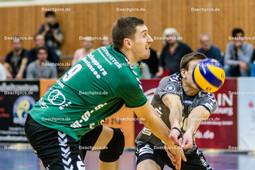 2016_027_BLM_Netzhoppers-Friedrichshafen | Annahme von Sebastian Krause (Netzhoppers #9) und Kamil Ratajczak (Netzhoppers #10)