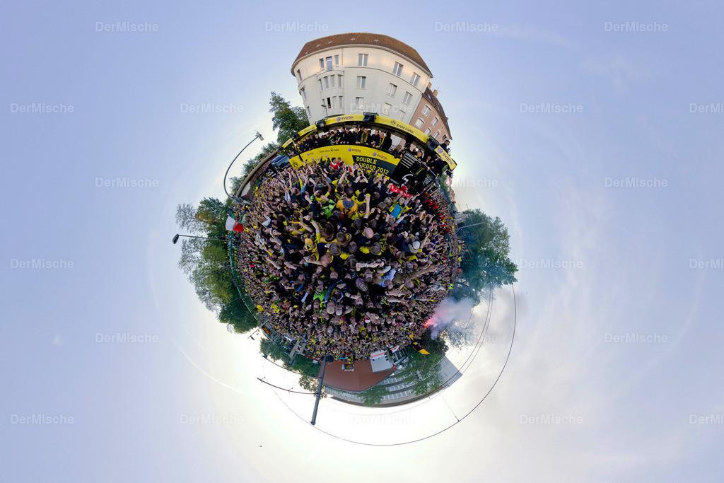 BVB Meisterfeier | Stereografisches 360° Panorama der Borussia Dortmund Meisterfeier in der Stadt
