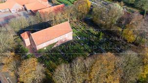 05424_1 | Luftaufnahme der Friedenskirche in 26556 Westerholt, Dornumer Straße, Samtgemeinde Holtriem, Landkreis Wittmund