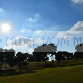 Bilder Golf | Golfbilder mit der winterlicher Sonne