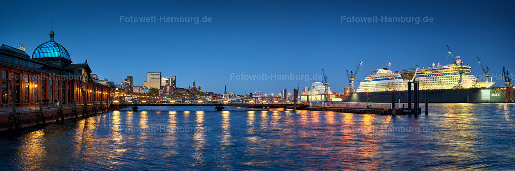 10190413 - Fischmarkt Panorama bei Nacht