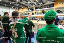 2016_027_BLM_PrePlayOff_Netzhoppers-Mitteldeutschland | Die Trommler sorgen für Stimmung in der Landkost-Arena