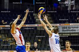 2016_122_OlympiaQualiSerbien-Belgien | Zuspiel BROJOVIC Aleksa (#16 Serbien) zu PODRASCANIN Marko (#18 Serbien)