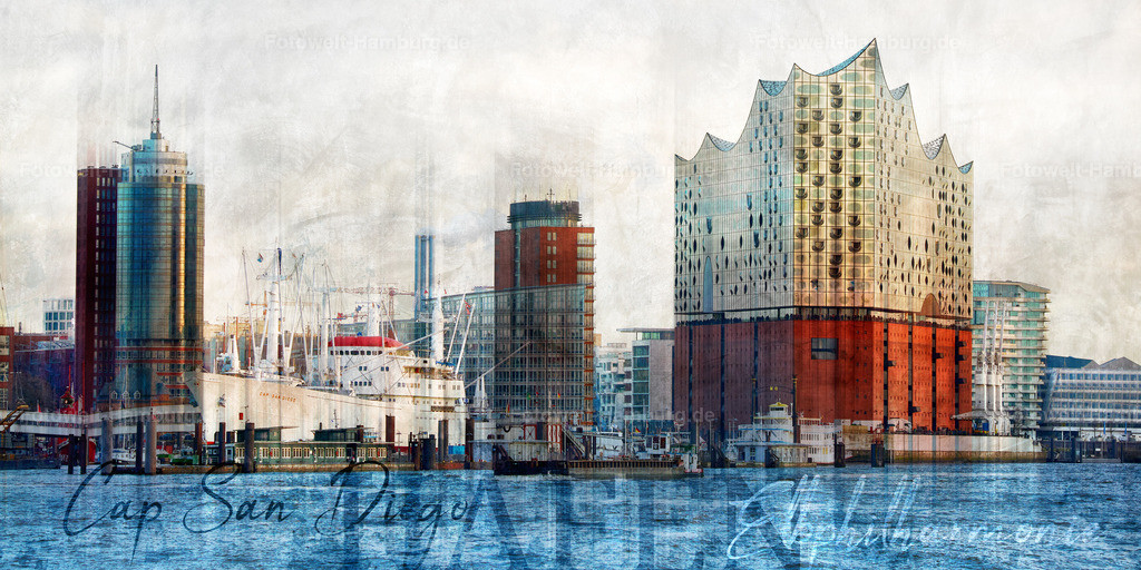 12039241 - Hafencity Skyline Abstrakt