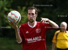 Foto: Michael Stemmer | © Michael Stemmer Datum: 23.7.2017 Fußball, Verbandspokal Runde 1  TuS Hemdingen- Bilsen1- (rot) gegen TuS Osdorf Christoph Mattern   ( TuS Hemdingen- Bilsen1)