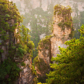 sunset in zhangjiajie national park