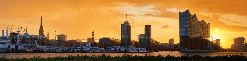 12009513 - Sunrise in Hamburg | Wunderschöne Morgenstimmung hinter der Hafencity