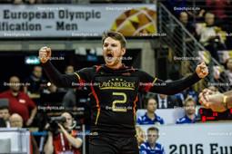 2016_040_OlympiaQualiDeutschland-Russland   Jubel bei STEUERWALD Markus (#2 Deutschland)