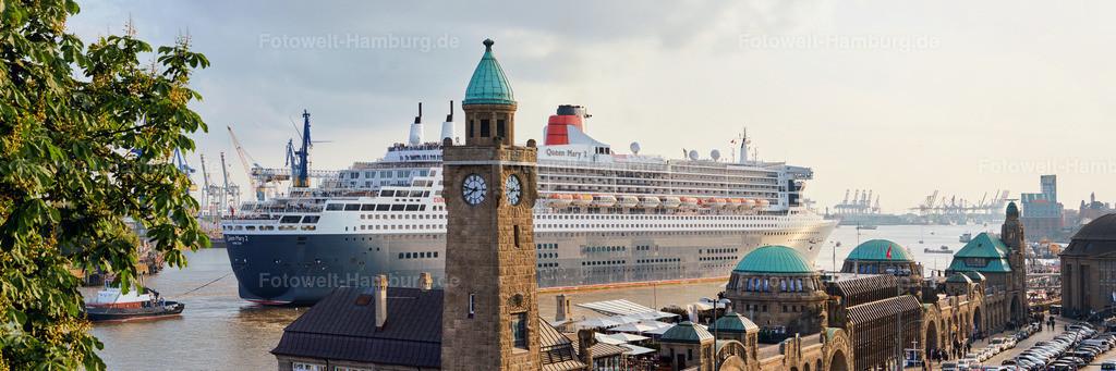 11758968 - Queen Mary 2 an den Landungsbrücken