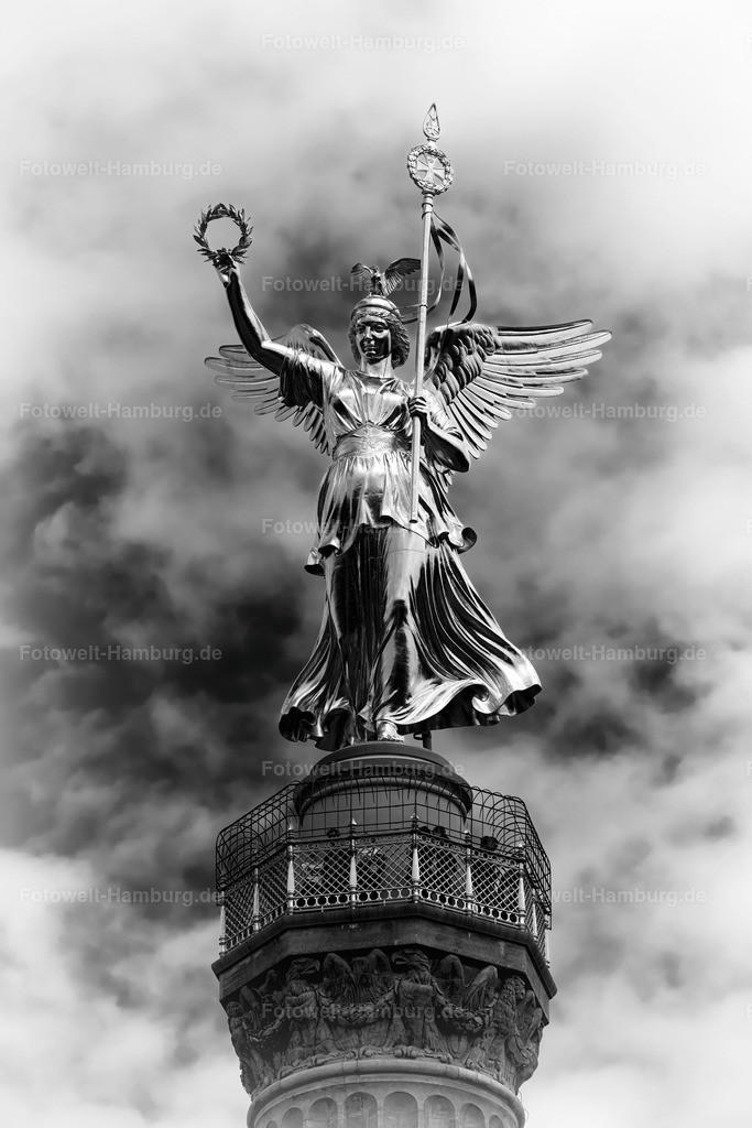 berlin leinwand siegessäule in schwarzweiss