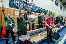 2016_005_BLM_PrePlayOff_Netzhoppers-Mitteldeutschland | die Trommler sorgen für Stimmung in der Landkostkost-Arena