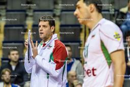 2016_028_Spiel1OlympiaQualiBulgarien-Finnland | bulgarischer Trainer KONSTANTINOV Plamen (head coach Bulgarien)