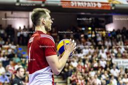 2016_178_OlympiaQuali_Halbfinale_Frankreich-Polen | Aufschlag KUREK Bartosz (#6 Polen)