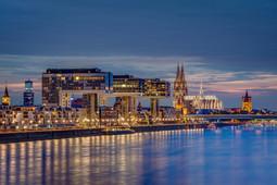 Kölner Panorama von der Südbrücke aus | Kölner Panorama von der Südbrücke aus