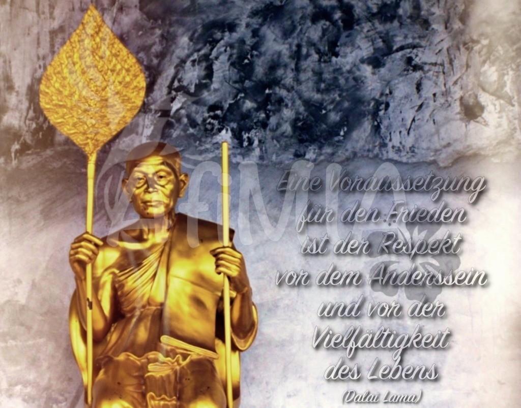 Zitat des Monats #3 Dezember 2018 | Eine Voraussetzung für den Frieden ist der Respekt vor dem Anderssein und vor der Vielfältigkeit des Lebens (Dalai Lama)