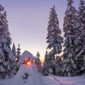 Winter-Sonnenuntergang 3