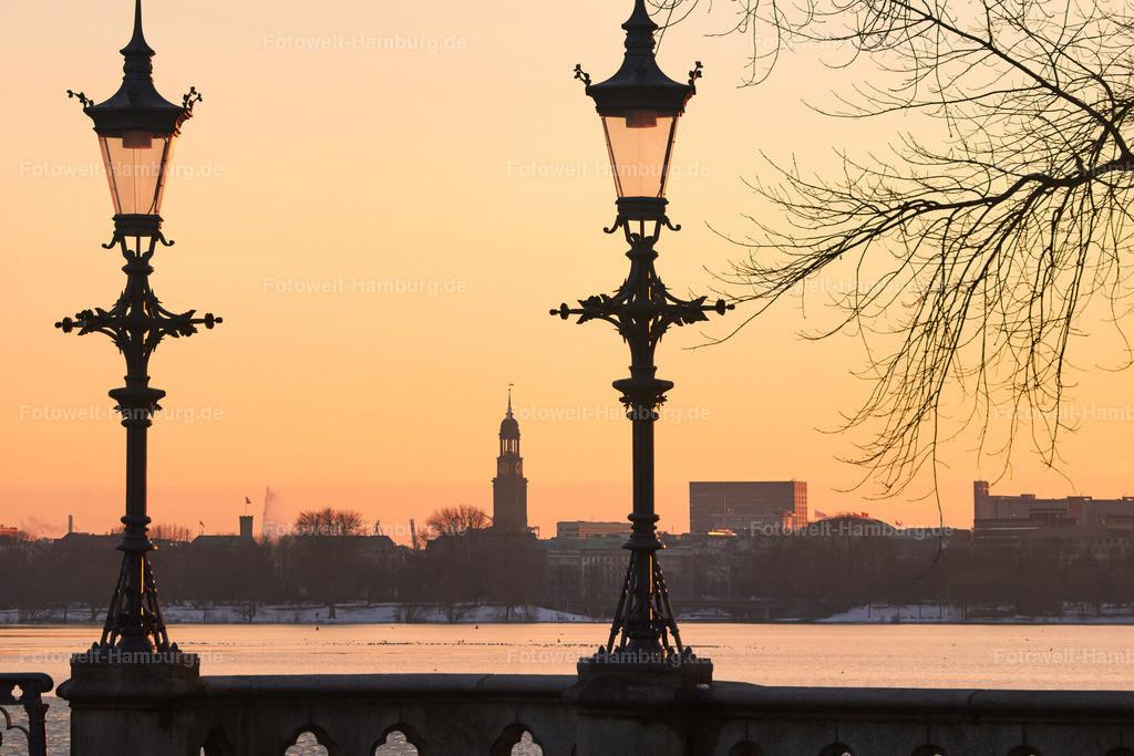11701290 - Sonnenuntergang an der Schwanenwikbrücke